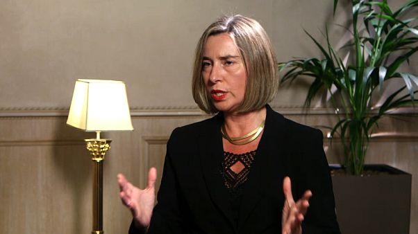 Federica Mogherini em entrevista à Euronews