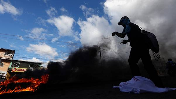Smoke billowing in Honduras