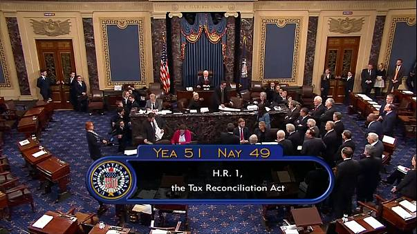 First big win for Trump as Senate approves tax overhaul