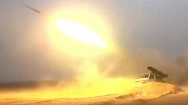 Imagem do disparo de um míssil na Síria