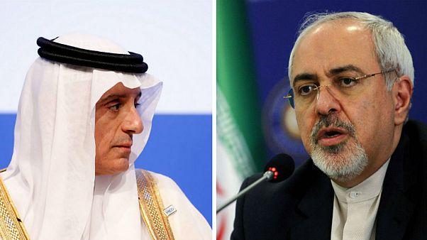 جنگ لفظی وزرای خارجه ایران و عربستان در نشست ایتالیا