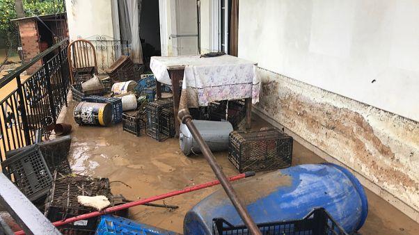 Καταστροφές σε σπίτια στον Λούρο Πρεβέζης