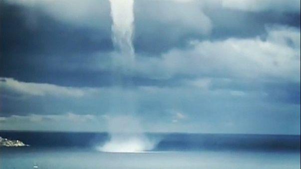 Tornado e neve surpreendem italianos e franceses