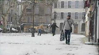 Winterwetter im Süden Europas.