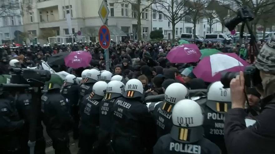 AfD-Gegner demonstrieren in Hannover
