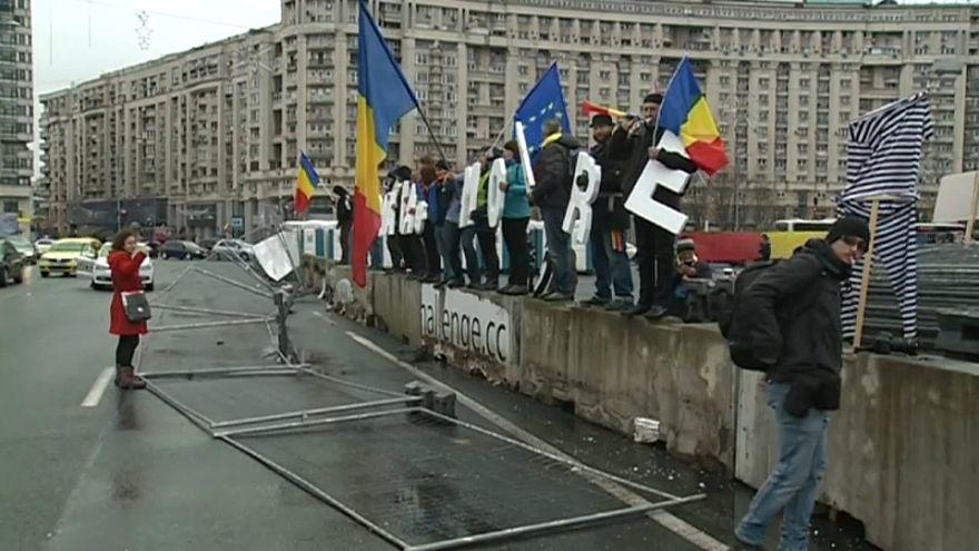 Romanya'da Noel pazarına tepki