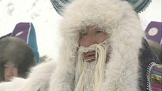 Bei -56 Grad: Russland feiert den Winter