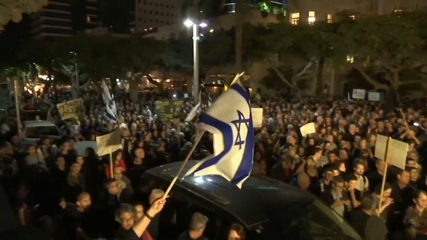 """""""Marcha da vergonha"""" contra a corrupção em Israel"""