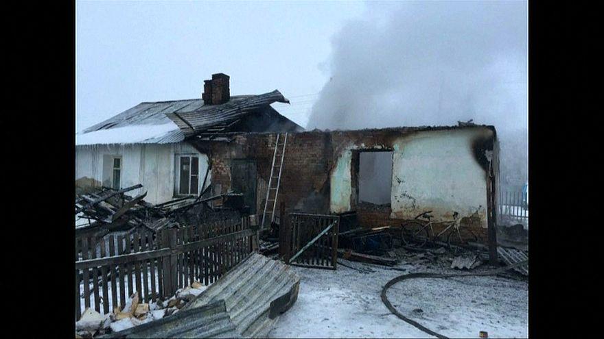 Пожар под Новосибирском, погибли дети
