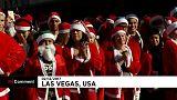 Марафон Санта-Клаусов в Лас-Вегасе