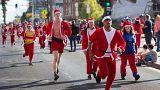 Santa run in Las Vegas