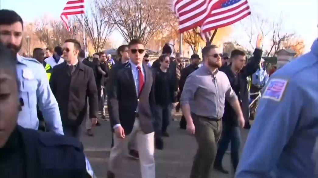 Rechte und linke Demos vor dem Weißen Haus