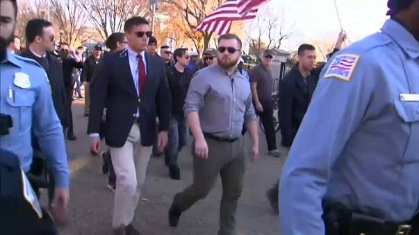 Far right rally in Washington met with protests