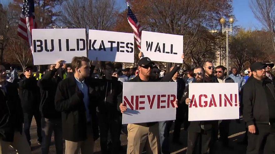 Manifestantes de ultraderecha en Washington