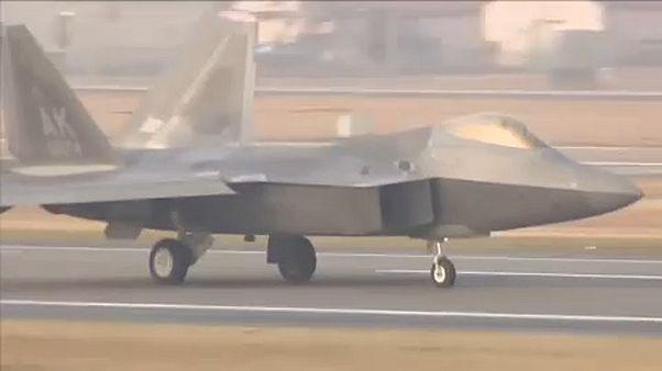 Légi erődemonstráció a Koreai-félszigetnél