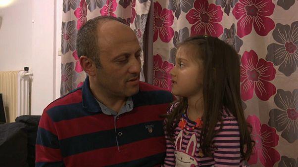 Tahsin con su hija Rana