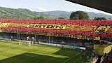 La coreografia della partita promozione in Serie B contro il Lecce