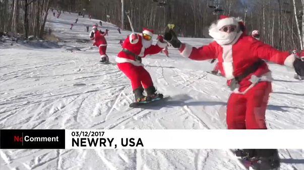 O deslize do Pai Natal no Maine