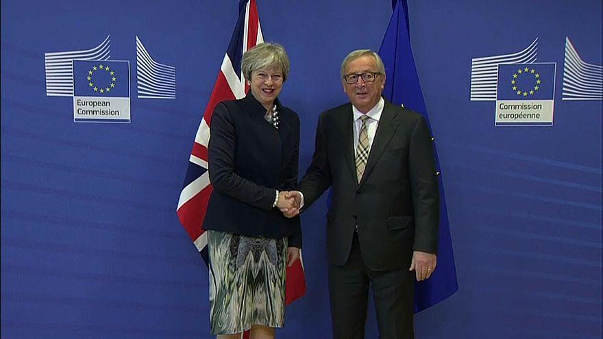 May und Juncker verhandeln: Kein Durchbruch