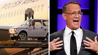 "Tom Hanks receives iconic ""toddler"" car from Polish fans"