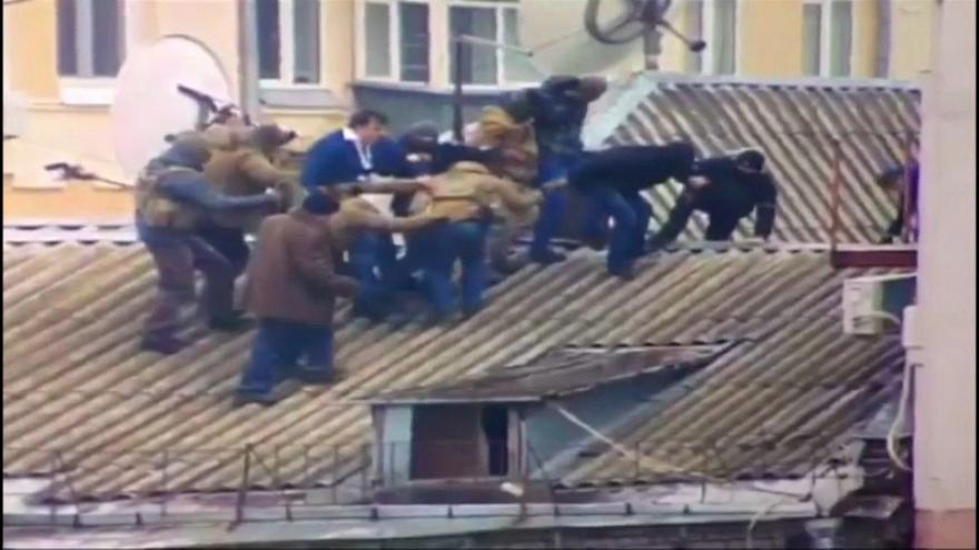 Saakashvili detained on rooftop of his apartment block