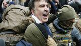ضباط شرطة يعتقلون رئيس جورجيا السابق ميخائيل ساكاشفيلي