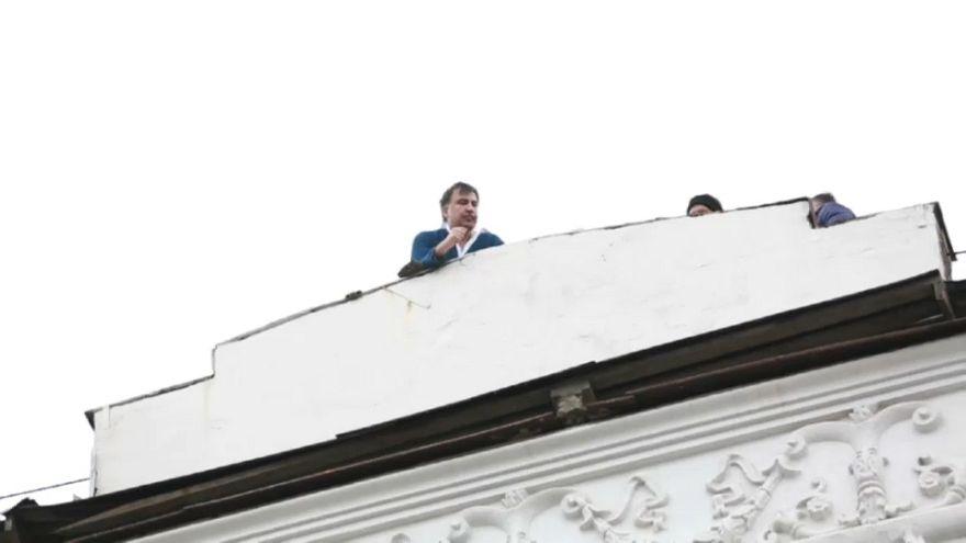 Saakashvili liberado en Kiev por sus seguidores
