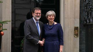Mariano Rajoy e Theresa May a downing Street