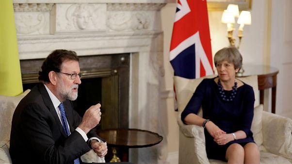 Theresa May et Mariano Rajoy à Londres ce mardi.