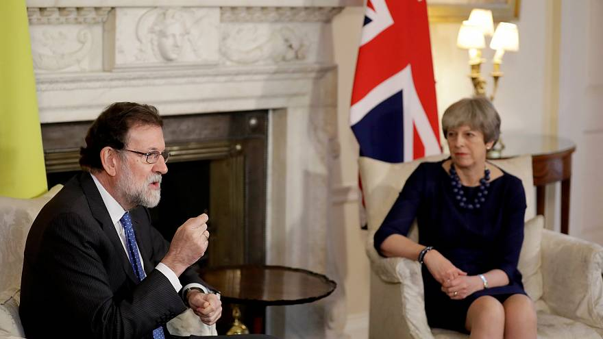 Theresa May et Mariano Rajoy à Londres ce mardi.