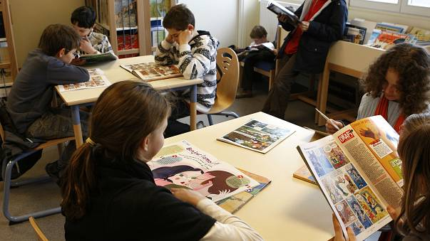 Which European country has the best young readers?