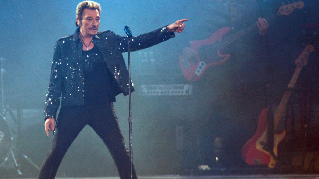 French rock star Johnny Hallyday dies aged 74