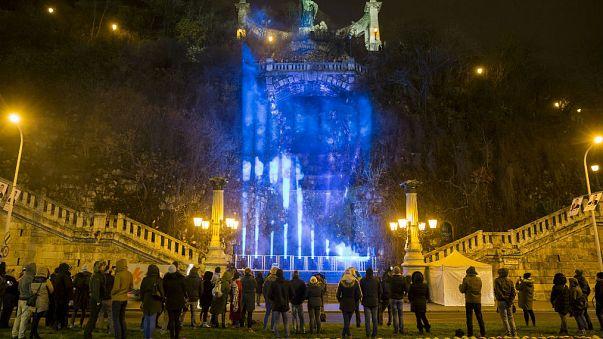 Fényinstalláció Budapesten