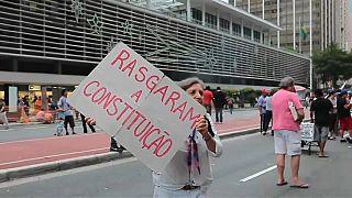 Protesta en São Paulo contra la reforma de pensiones de Temer
