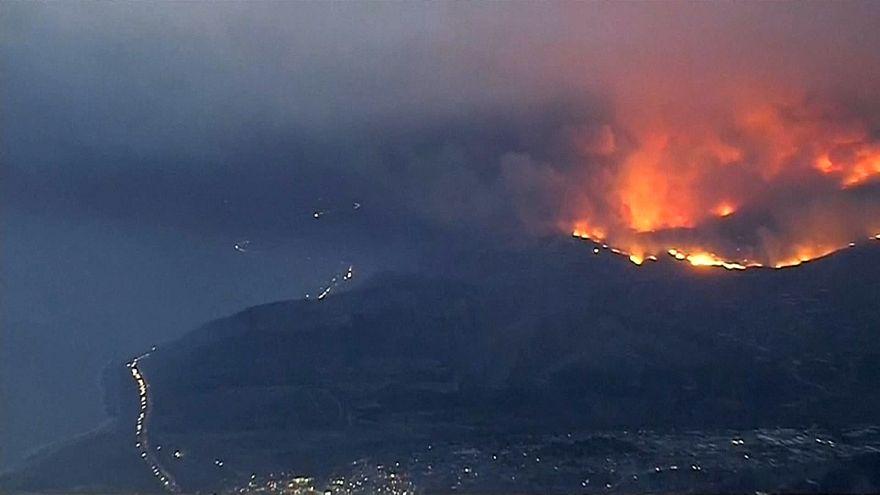 Evacuaciones masivas por los incendios en California
