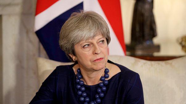 British Prime Minister Theresa May at Downing Street