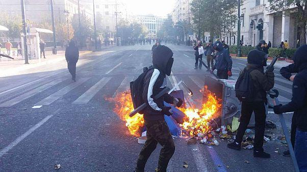 Επεισόδια σημάδεψαν το μαθητικό συλλαλητήριο για τον Αλέξανδρο Γρηγορόπουλο