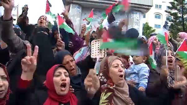 Palesztin tüntetések Trump döntése ellen