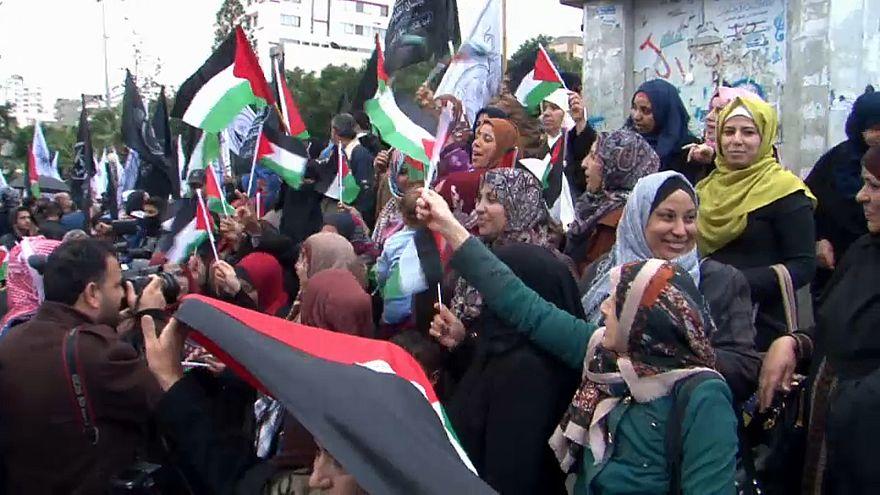 Trump Gazze'de protesto edildi
