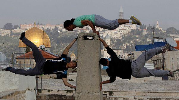 Junge Palästinenser in Jerusalem