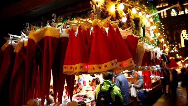 Stand auf dem Weihnachtsmarkt in Wien