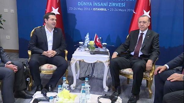 Tsipras e Erdogan a Istanbul nel 2016