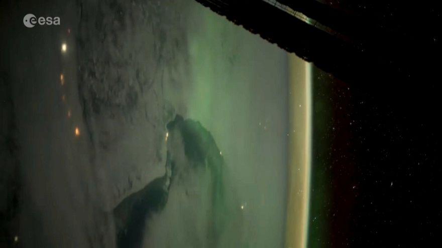 Cómo es la aurora boreal en los ojos de un astronauta