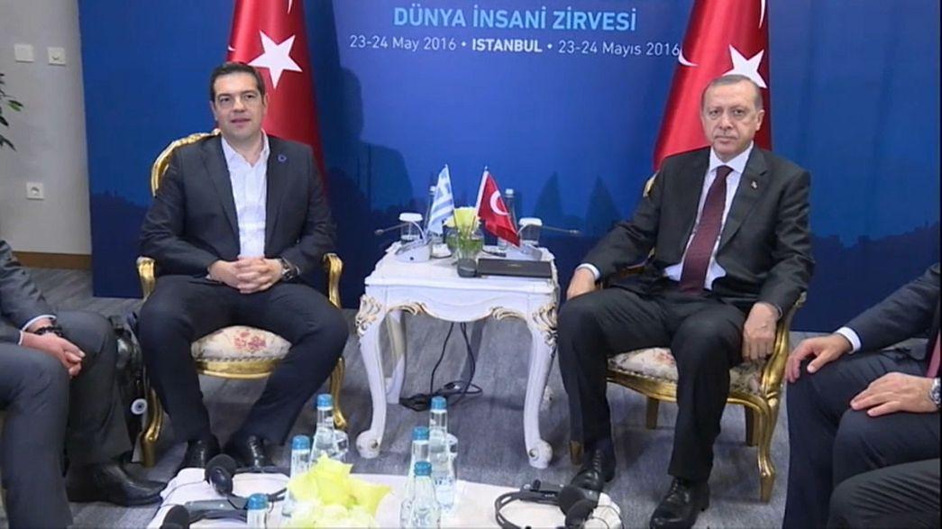Greece, Turkey seek closer ties with Erdogan visit