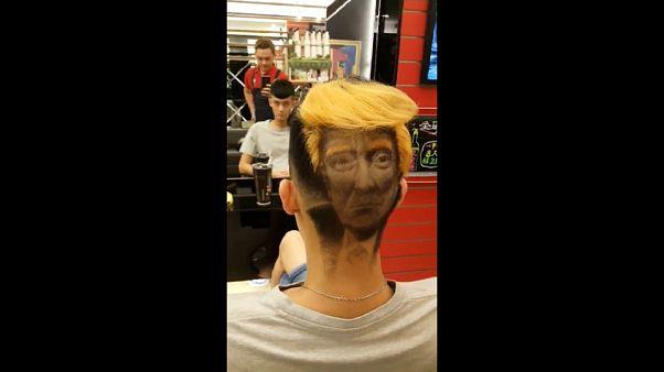 تصفيفات شعر على شكل صورة وجه ترامب