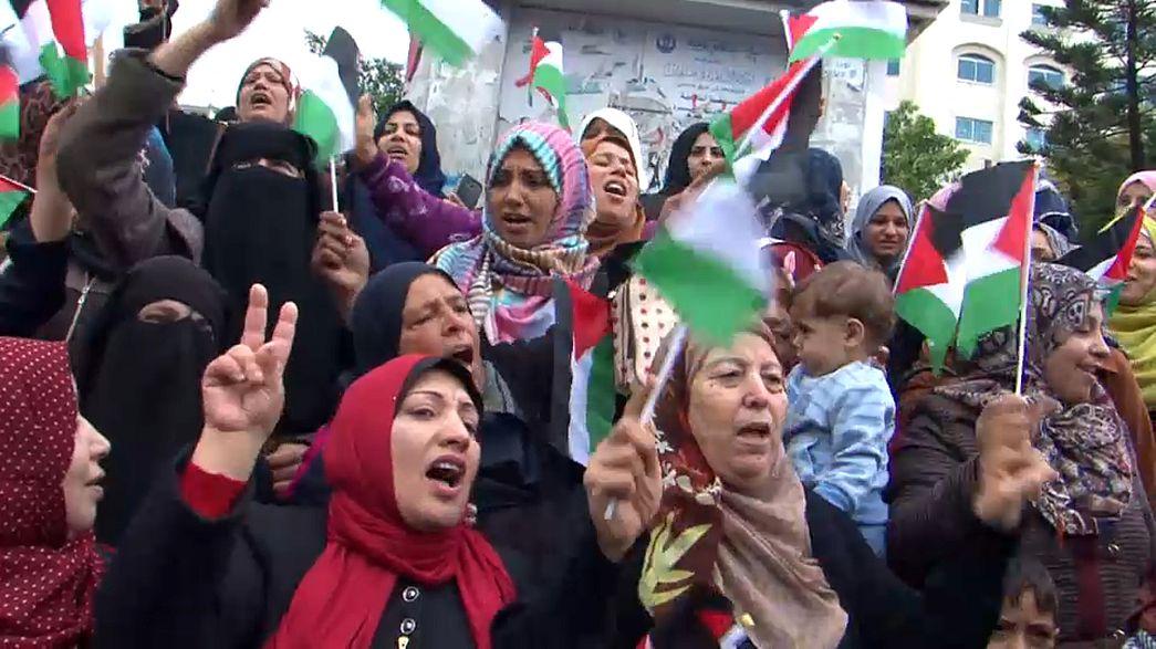 غزة تخرج تنديدا بخطوة ترامب الاعتراف بالقدس عاصمة لإسرائيل