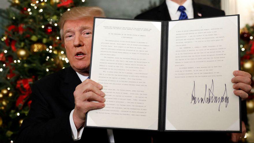 ترامپ: آمریکا از این پس بیتالمقدس را به عنوان پایتخت اسرائیل به رسمیت میشناسد
