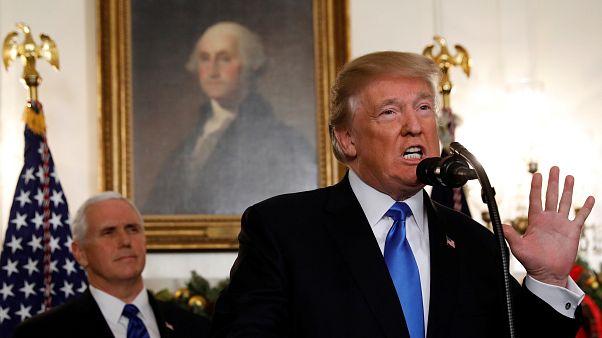 Trump bei seiner Ankündigung im Weißen Haus