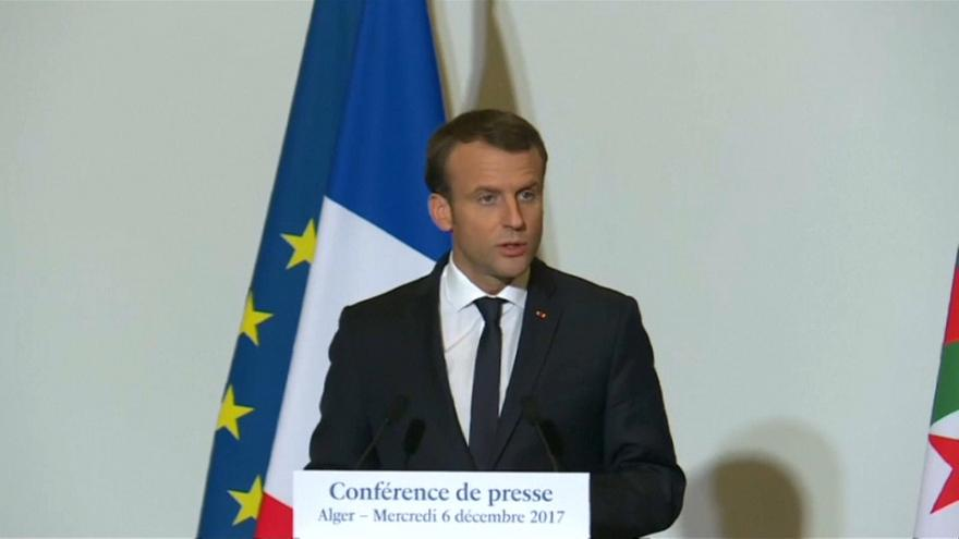 Macron répond à Trump sur Jérusalem