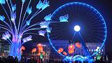 Light tricks dismantle a cathedral and show a spider invasion in Lyon's Fête des Lumières